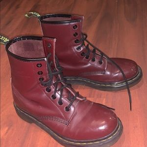 Dr Martens smooth leather lace up boots